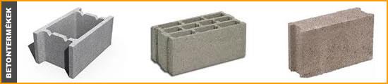 betontermékek: mixerbeton, zsalukő